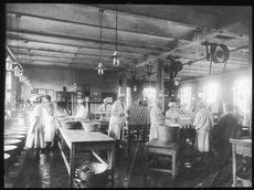 Hermetikkavdelingen der det jobbet mest kvinner