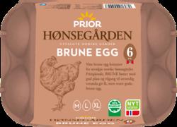 Prior Hønsegården brune egg